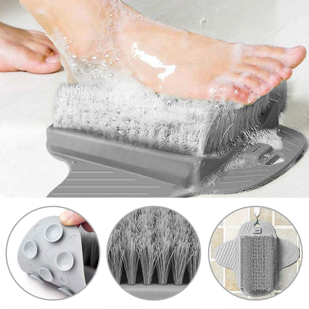 PERFETSELL Shower Foot Scrubber Cleaner Massager Foot Massager Shower Brush with Non-Slip Suction Cups and Soft, Foot Acupressure Massage Mat for Foot Care/Foot Foot Circulation/Reduces Foot Pain
