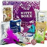 BOXX Kitty (13 Teile) Geschenk für Katzenliebhaber - Geschenkbox mit Katzenspielzeug, Katzenfutter, Pflegeprodukten, Praktischen Tipps & Utensilien als Geschenk für Katzenbesitzer & Katzen