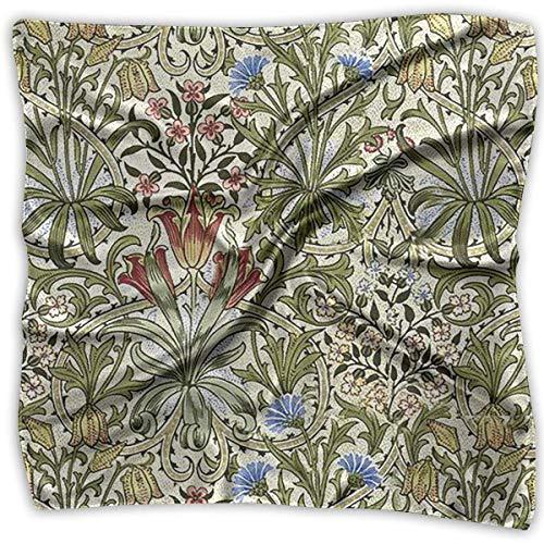 Women's Square Scarf Flower Pattern Satin Polyester Silk Feeling Square Headscarf Headdress - Funky Flower Handtasche