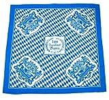 Bavariashop Tischdecke 1 qm Bayern, 1 x 1 Meter, Rauten, Weiß Blau, 100 % Baumwolle, Picknick, Bayerische Dekoration