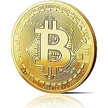 fisici Bitcoin moneta con vera placcato oro 24carati. wahres pezzo da collezione, con custodia protettiva, monete capsula. Un must per ogni fan Bitcoin + GRATIS e di NOTEBOOK contro Cyber di attacchi