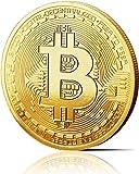innoGadgets Bitcoin Medaille 24-Karat Echt-Gold Überzogen Mit Schutzhülle 1 Stück Gold