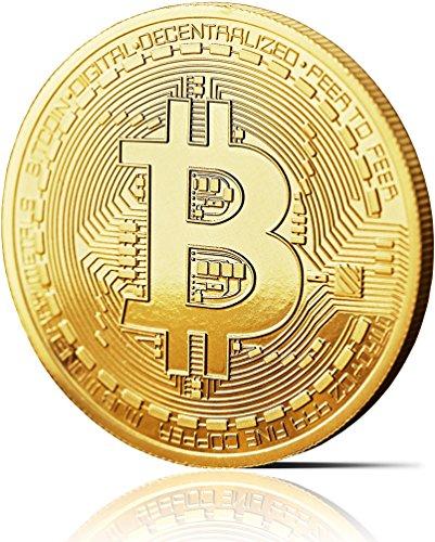 Moneda física de Bitcoin revestida en oro auténtico de 24 quilates. Una verdadera pieza de coleccionista, con estuche protector. Una adquisición obligada para todo fanático del Bitcoin + E-book GRATIS contra ataques cibernéticos