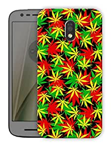 "Humor Gang trippy cannabis psychedelic pattern Printed Designer Mobile Back Cover For ""Motorola Moto E3"" (3D, Matte Finish, Premium Quality, Protective Snap On Slim Hard Phone Case, Multi Color)"