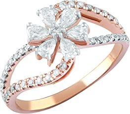TBZ - The Original 18KT Rose Gold and Solitaire Ring for Girls