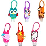Cute Cartoon Kids Hand Sanitiser/Hand Gel Leak Proof Silicone Refillable Empty Bottles Travel Containers Holders Perfect…