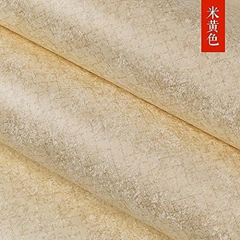 ZYONG*Le opere letterarie van fare antica carta da parati camera da letto personalità americana di venature di colore solido wallpaper soggiorno con studio completo di tessuto non tessuto m giallo