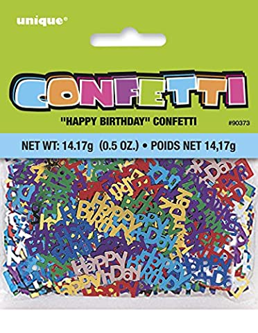 Unique Party - 90373 - Confettis d'Anniversaire - Happy Birthday