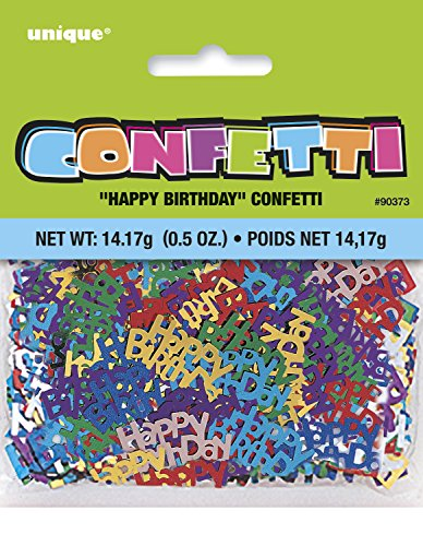 Unique Party - 90373 - Confettis d'Anniversaire - Happy Birthday