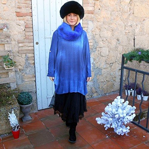 Coklico - Robe Tunique grande taille Tie Dye - 46 48 50 - M. Peace - Sans accessoires Bleu foncé