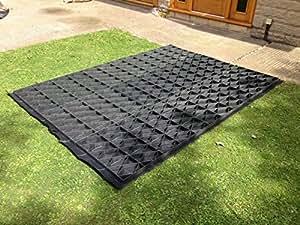 10x 6Grille Abri de jardin Base 11x 6= 70pieds carrés complet Eco Kit 3.4M x 1,83m + MEMBRANE très résistante en plastique Eco pavés bases & Allée grilles