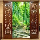 Fushoulu Benutzerdefinierte Mural Tapete Grün Bambus Waldweg Moderne Wandmalerei Wohnzimmer Eingang Flur Home Decoration Tapete-200X140Cm