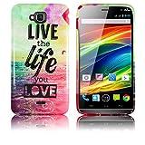Wiko Slide Silikon Schutz-Hülle LIVE THE LIFE weiche Tasche Cover Case Bumper Etui Flip smartphone handy backcover thematys®