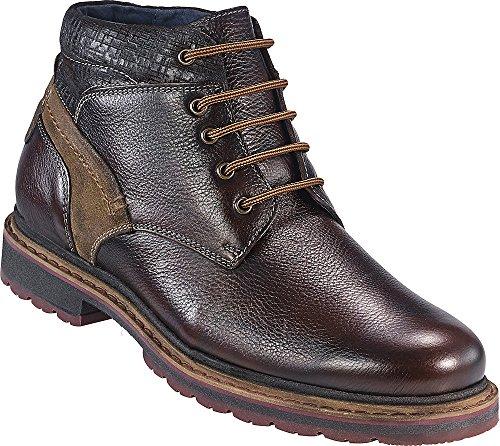 637035694161 Tom Ramsey Herren Schnürstiefel in Braun Aus 100% Leder, Halb-Schuhe mit  Schnürsenkel