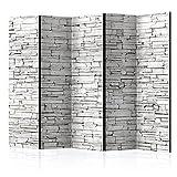 murando Raumteiler Stein-Optik Foto Paravent 225x172 cm einseitig auf Vlies-Leinwand Bedruckt Trennwand Spanische Wand Sichtschutz Raumtrenner grau f-B-0117-z-c