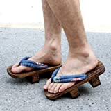 Cosplay Geta Clogs Slippers Japanese Wooden Shoes Men Women Sandals-B_36 (Color : C, Size : 44)