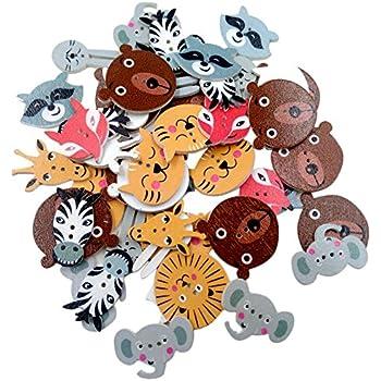 6 Stück Schöne Holzknöpfe Holz Knopf Knöpfe Buttons OWL 3cm 30mm Eulen NEU 3