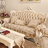 European Style Sofa Pad/Einfache Luxus-sofa Handtuch/Herbst- Und Wintertuch/Ledersofa/Anti-rutsch-vier Jahreszeiten Decken-C 85x120cm(33x47inch)