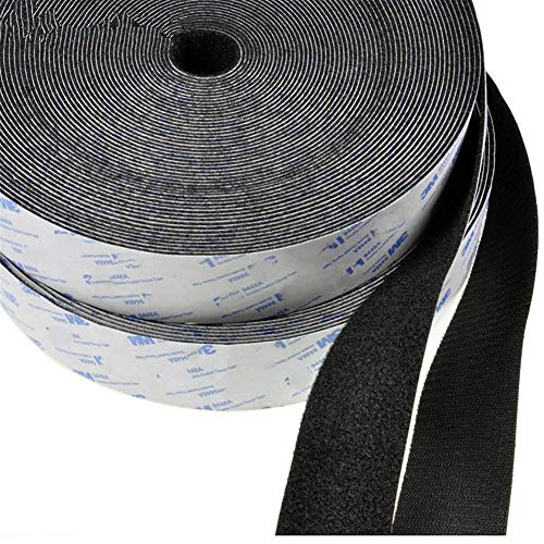 Klettverschluss Nylon Klettverschluss Selbstklebend Magische Klebeband Handwerk Handgefertigte Quiltvorhang Breite 16/20/25/30/40 / 50mm draussen (Color : 30mm White)