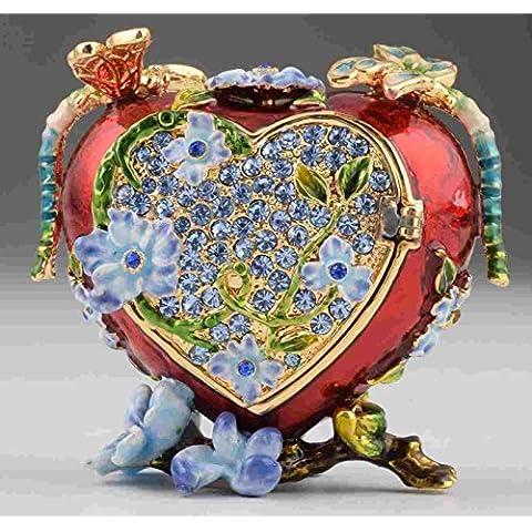 Rojo Corazón de música caja de estilo, regalo de San Valentín