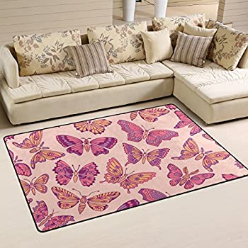 ASPECT 120 x 170 cm Polyproplene Open Butterfly Area Rug in Light ...
