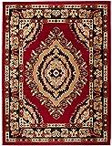 Teppich Klassisch Designer Muster Orientteppich in Rot Preishammer + LÄUFER (100 x 200 cm)