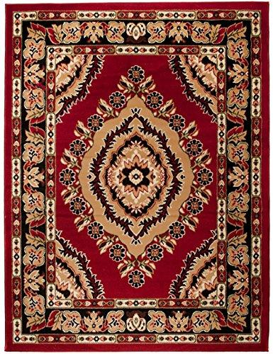 Kashan Roten Teppich (Carpeto Orientteppich Teppich Rot 250 x 350 cm Medaillon Muster Kurzflor Verona Kollektion)