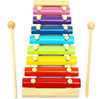 TOYZKART® Wooden Xylophone Musical Toy for Children with 8 Note (Big Size)- Multi Color