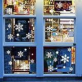 Phogary Weihnachtsdekorationen Schneeflocken Fenster Aufkleber (215 Stück), Schneeflocken Windows Decals für Kinder Weiße Schneeflocke Winter Schnee Urlaub Aufkleber Party Supply (5 Blatt)