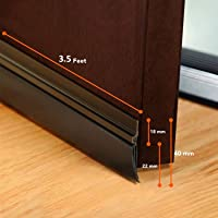 Simba Door Seal Bottom,3.5 ft Door Air Gap Rubber Shield, 42''/107 cm, Anti Rust, Brown Colour, Black Rubber.