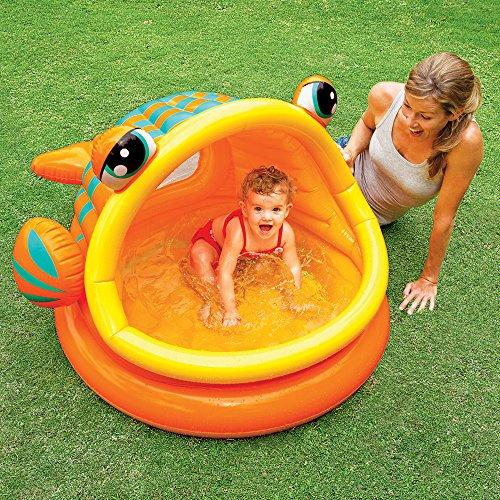 Intex - Piscina hinchable para bebe, 124 x 109 x 71 cm, 53 l, diseño pez (57109NP)