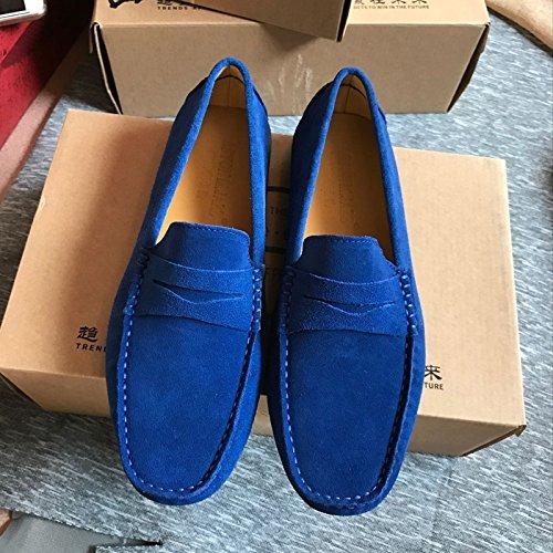 scarpe pigro piselli respirabile blu smerigliato scarpe moda guidando a suo dei metri piselli agio scarpe alla RdUwxdOFq