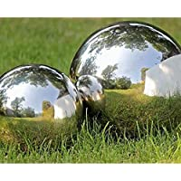 Stainless Steel Mirror Sphere Garden Ornament 27cm