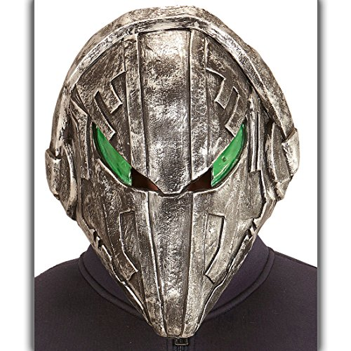 Alien Latexmaske Alienmaske Space Halloweenmaske Monster Außerirdischer Karnevalsmaske Star Wars Maske Predator (Alien Maske Grau)