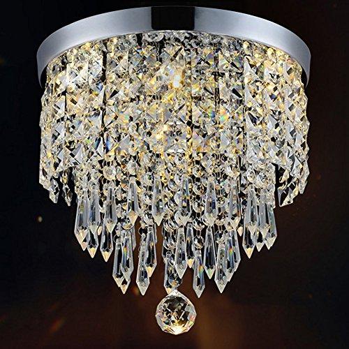 SUN-E Lampadario moderno lampada a sospensione a soffitto in cristallo Apparecchio a soffitto W20CM per corridoio, bar, cucina, sala da pranzo, camera dei bambini