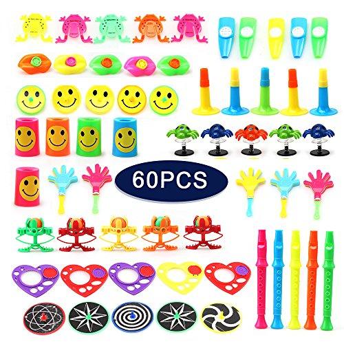 Amy & Benton Surtido de 60 juguetes para rellenar piñatas y bolsas de regalo de fiestas de cumpleaños infantiles o para el colegio