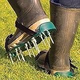 Garden Mile Jardín Césped Zapatos Aireador MANUAL Linón AIREADOR CON 13x 5cm Pinchos y Correas Universal para Linón Aireador Sandalias