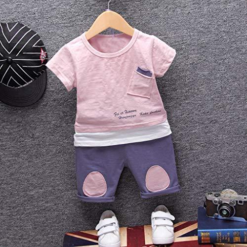 sunnymi  Jungen Tops + Shorts Outfits Set, 2 PC Tasche Kurzarm T-Shirt Tops Shorts