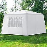 Pavillon New York 3x3m Partyzelt Festzelt Gartenzelt Eventpavillon ✔mit 4 Seitenwände ✔9m²...