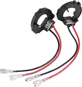 Keenso 2 Stück H7 Led Scheinwerfer Lampenfassung Halter Adapter H7 Led Scheinwerfer Adapter Für Mk6 Mk7 Auto