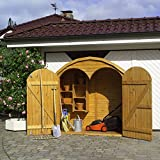 Holz-Geräteschrank Roma groß Gerätehaus Schuppen Schrank -
