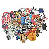 Baybuy Random Sticker 50-500pcs Variety Vinyl Car Sticker Motorcycle Bicycle Luggage Decal Graffiti Patches Skateboard Stickers for Laptop Stickers (300pcs)