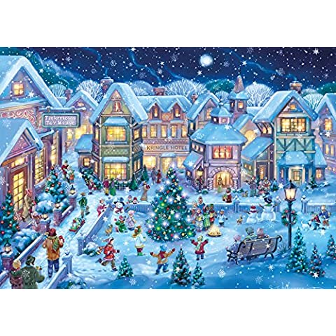 Holiday Village, con scatola regalo, motivo: biglietti natalizi (15 Cards & 16 Foil Lined buste) - Orgoglio Holiday Card