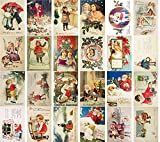 Vintage Christmas Postkarten 24pcs Christmas Children and Holy Angels Vintage Greetings Cards REPRINT Postcard Set Weihnachten