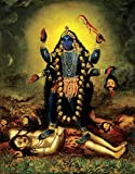 Faim Paintings Canvas Print Of Religious Art Kali Mata - Frameless, 18x24 Inch best price on Amazon @ Rs. 599