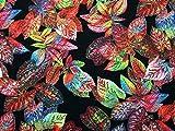 Digital Blätter Print Viskose Challis Kleid Stoff,