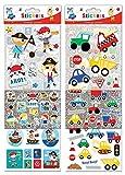 Anker-Kids Create/Arts und Crafts Jungen Aufkleber, Kunststoff, Farbe Sortiert, 29,7x 21x 2cm, Pack von 3Blatt