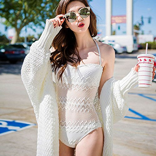 Neue einteilige bikini XL-weiß