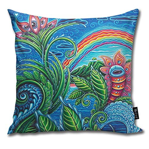 popluck Decorative Pillow Cover Maui Wowie Square Home Decor Pillowcase 18x18 Inches