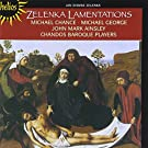Lamentations de J�r�mie / Michael Chance, contret�nor - John Mark Ainsley, t�nor - The Chandos Baroque Players